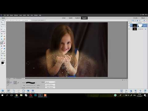Photoshop Elements Blowing Glitter Overlay Tutorial