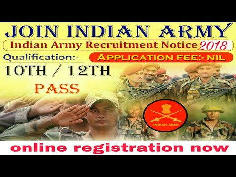 India army open Bharati rally new notifications . online registration form....