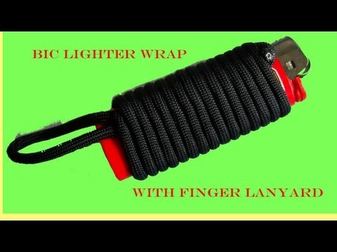 Bic Lighter Wrap with Finger Lanyard