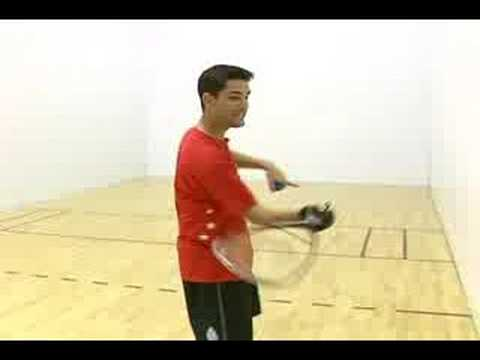 How to Play Racquetball : The Ceiling Shot in Racquetball