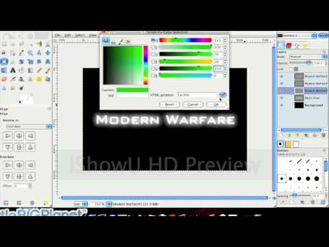 How To: Make MW2 Title using Gimp