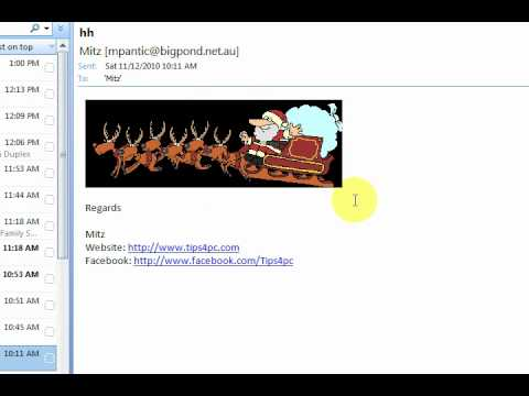 Animated gif pictures do not work in Outlook 2007