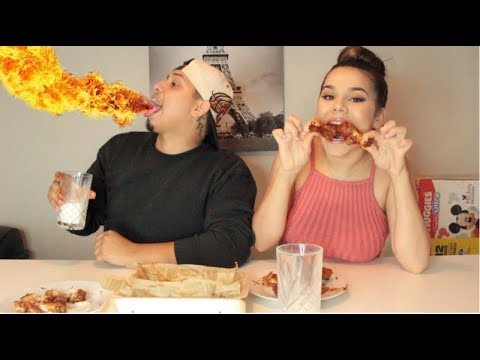 EXTREME ATOMIC HOT WING CHALLENGE ! ! !