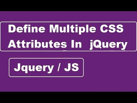 How To Define Multiple CSS Attributes In JQuery