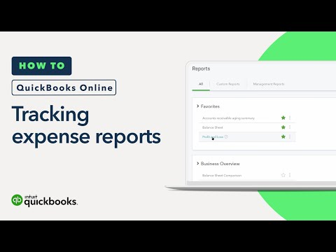 How to Track What You've Spent: Expense Reports   QuickBooks Online Tutorial 2018
