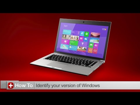Toshiba How-To: Find what version of Windows you are running