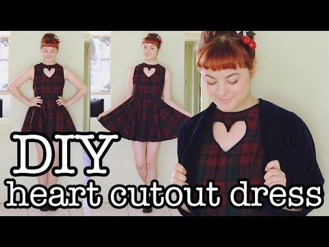 DIY Heart Cutout Dress Tutorial