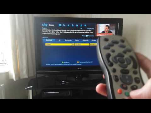 How to restore deleted Sky TV programs