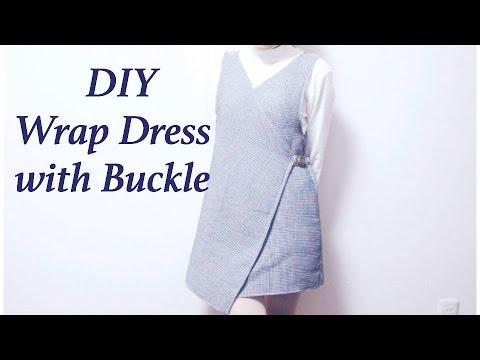 DIY Wrap Dress with Buckle // ラップワンピースの作り方ㅣmadebyaya