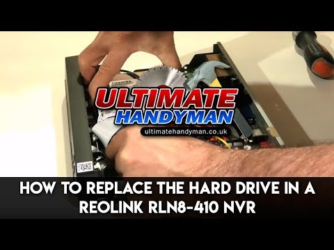 How to replace the hard drive in a Reolink RLN8-410 NVR