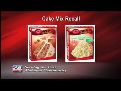 Betty Crocker Cake Mix Recall