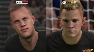 fifa 19 vs pes 2019 graphics comparison Videos - ytube tv