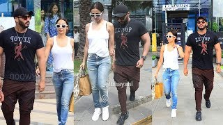 Malaika Arora With B0YFRIEND Arjun Kapoor 0penly Roaming Holding Hands Snapped Aftr Lunch