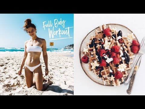 WHAT I EAT IN A DAY #126 VEGAN + FULL BODY FAT BURNER WORKOUT