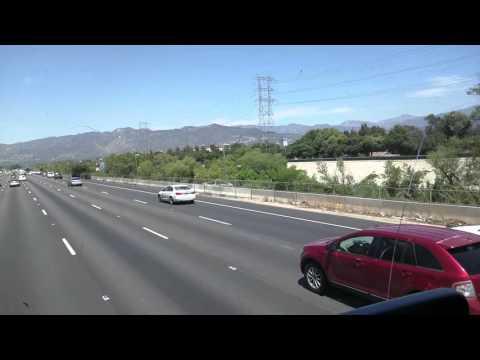 Megabus Top Front leaving LA