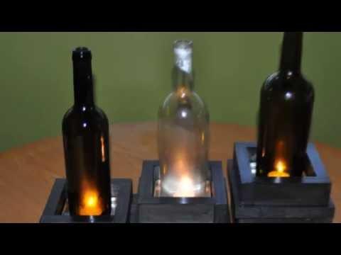 Wine Bottle Candle Holders - DIY stuff by DKS