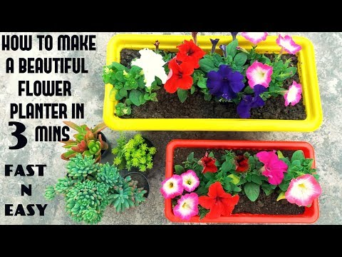 Make Beautiful Flower Planter in 3 Mins ( FAST N EASY)
