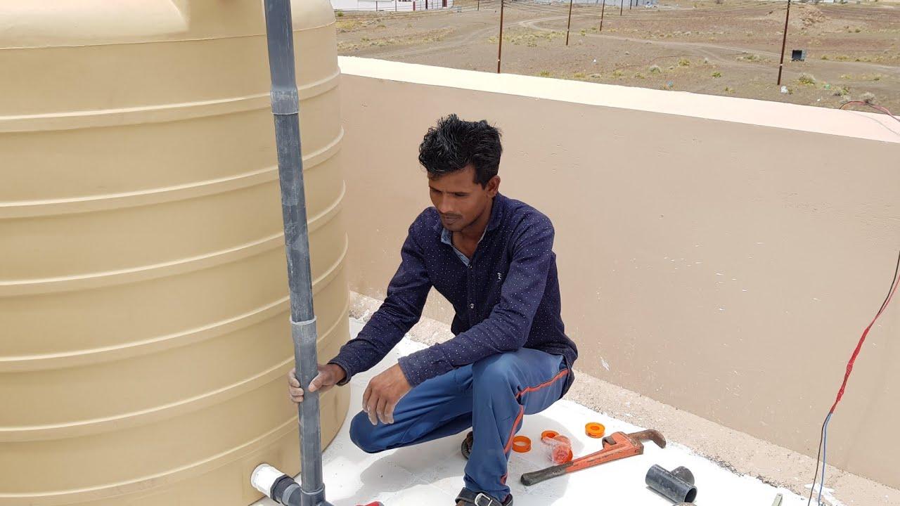 Water Tank Fitting & Installation & Plumbing Work/4000 Liter Water Tank Install & Pipe Fixing