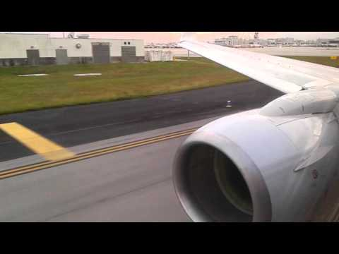 American Airlines 737-800W take off to San Juan, Puerto Rico part 1