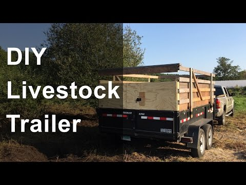 DIY Livestock Trailer