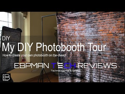 How to make a Photo Booth & Simple Booth Photo Booth Demo DIY wedding