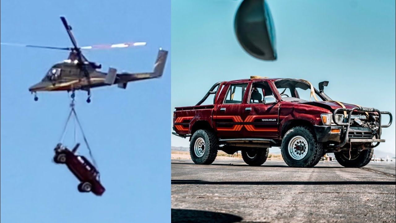 Toyota Hilux Gets Dropped 10,000ft (HILUX TEST #4)