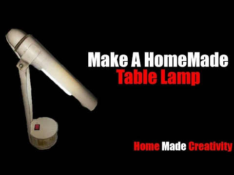 how to make a table lamp at home using pvc pipe