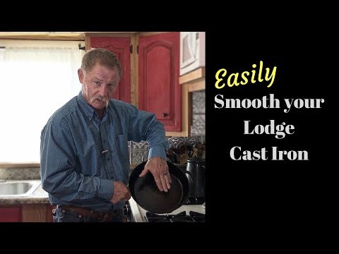 How to Smooth Rough Cast Iron - Remove Pre Seasoning on Cast Iron for Non Stick Cooking