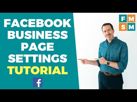 Facebook Business Page Settings Tutorial