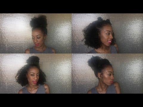 Four messy bun hairstyles / bun is life!!