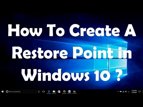 How To Create A Restore Point in Windows 10 - Easy Steps