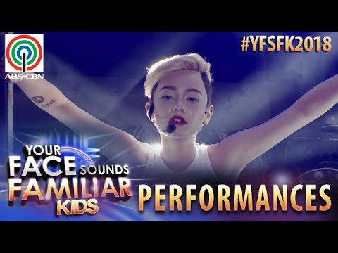 Your Face Sounds Familiar Kids 2018: Krystal Brimner as Miley Cyrus | Wrecking Ball