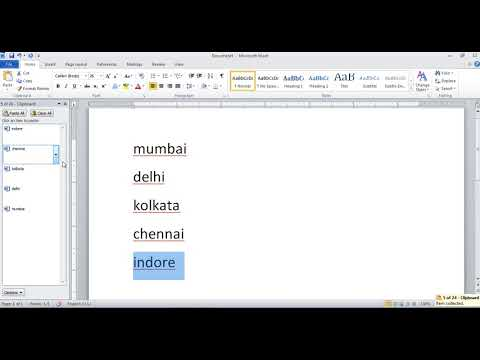 Clipboard Option in Microsoft Office Word in Hindi