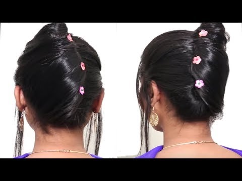 5 Different hairstyles for short hair   Beautiful Hairstyle for wedding party   Hairstyle Tutorial