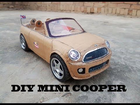 WOW! Super RC Mini cooper || How to make Cardboard Mini cooper || DIY ||  Electric Toy Car