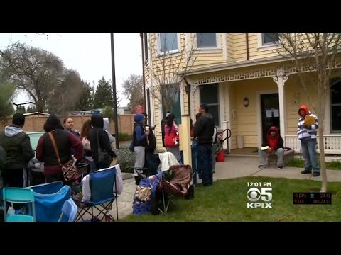 People Wait In Lines For Days For Affordable Housing Complex In Santa Rosa