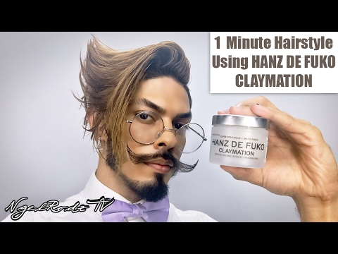1 Minute Hairstyle Using HANZ DE FUKO CLAYMATION   Review