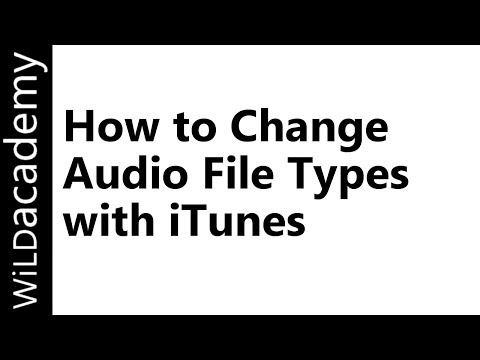 How to Change Audio File Types - MP3 M4A WAV