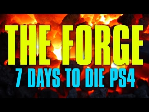 How To Make Anvils and Other REQUIRED Tools in the Forge 7 Days To Die PS4