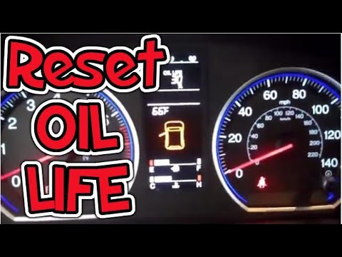 2007 - 2012 Reset Oil Life Indicator - Honda