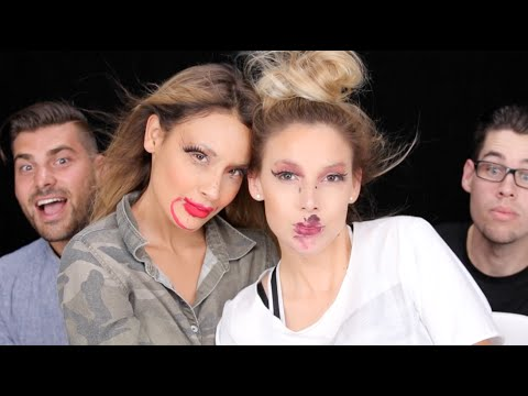 Not My Hands Makeup Challenge ♡LUSTRELUX/ DESI PERKINS COLLAB