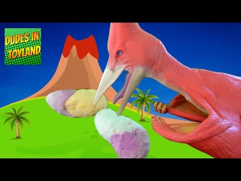 Dinosaur surprise eggs - biggest ever GIANT DIY fizzing dino toys fossils!