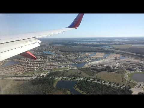Landing in Orlando International Airport