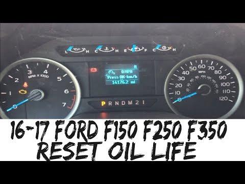 2017 Ford F150 Reset Oil Life 2016-2017 F250 F350 F450