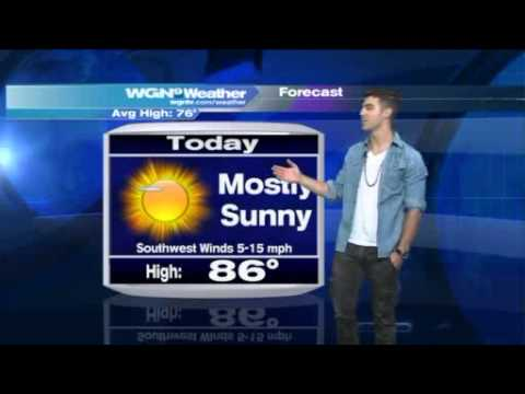 Joe Jonas Does The Weather