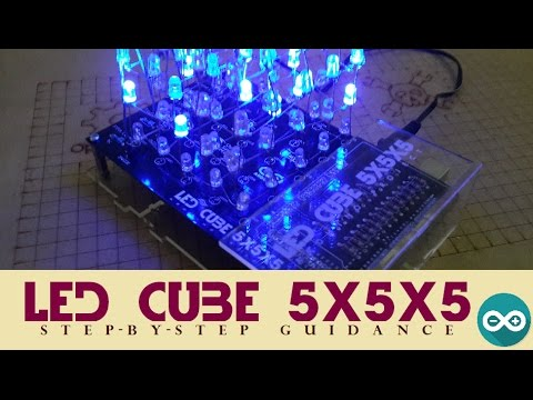 How to make Led cube 5x5x5 (Arduino project)