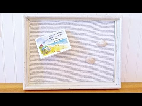Make a Reversible Framed Fabric Note Board - DIY Home - Guidecentral