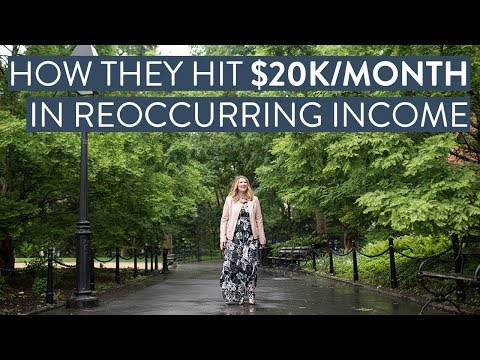 How To Create $20,000 in reoccurring income with an online business