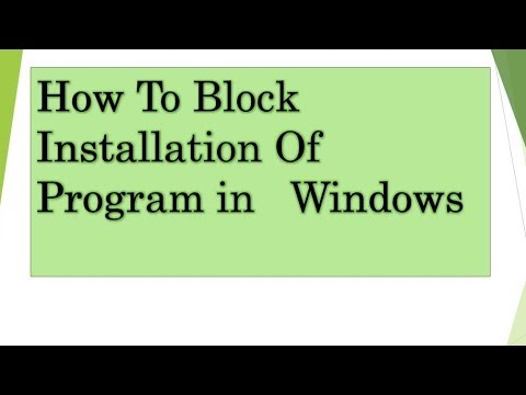 how to block software installation in windows 10