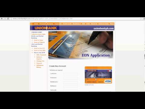 Union Bank Eon Card For Paypal Use Application Guide